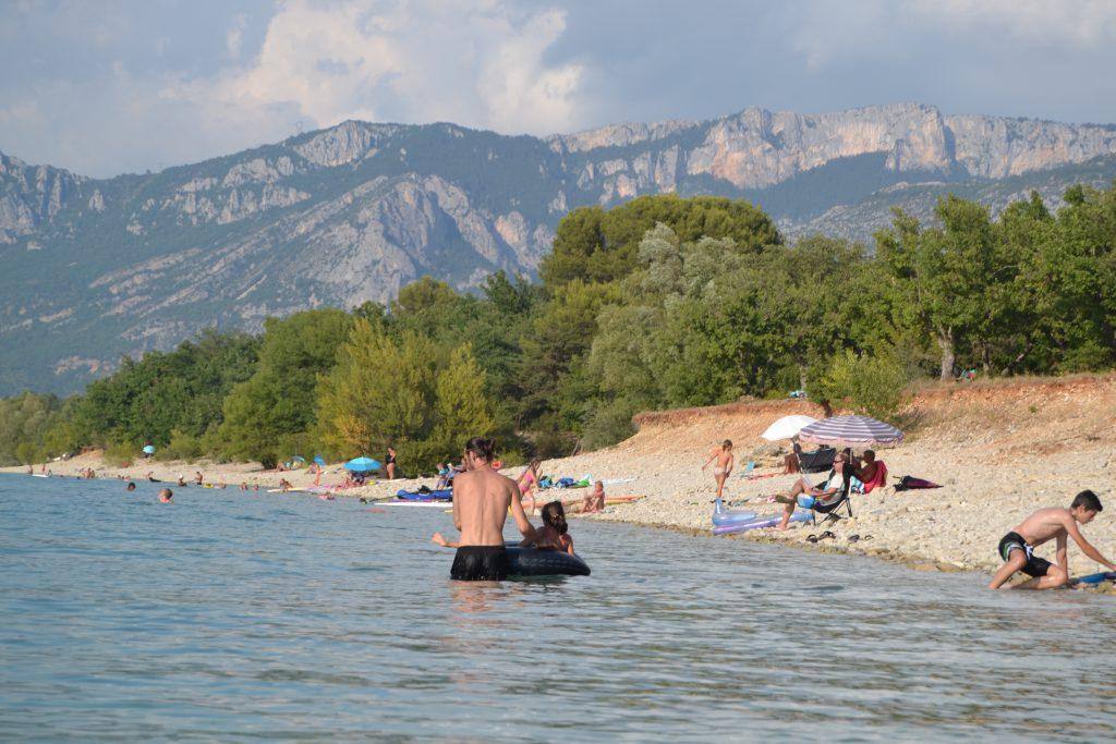 Vores foretrukne badested om sommeren - Lac Sainte-Croix