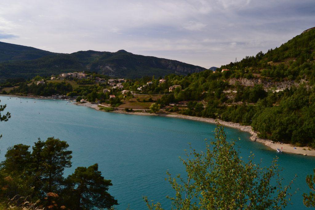 Søen Lac de Castillon på vejen mod Castellane