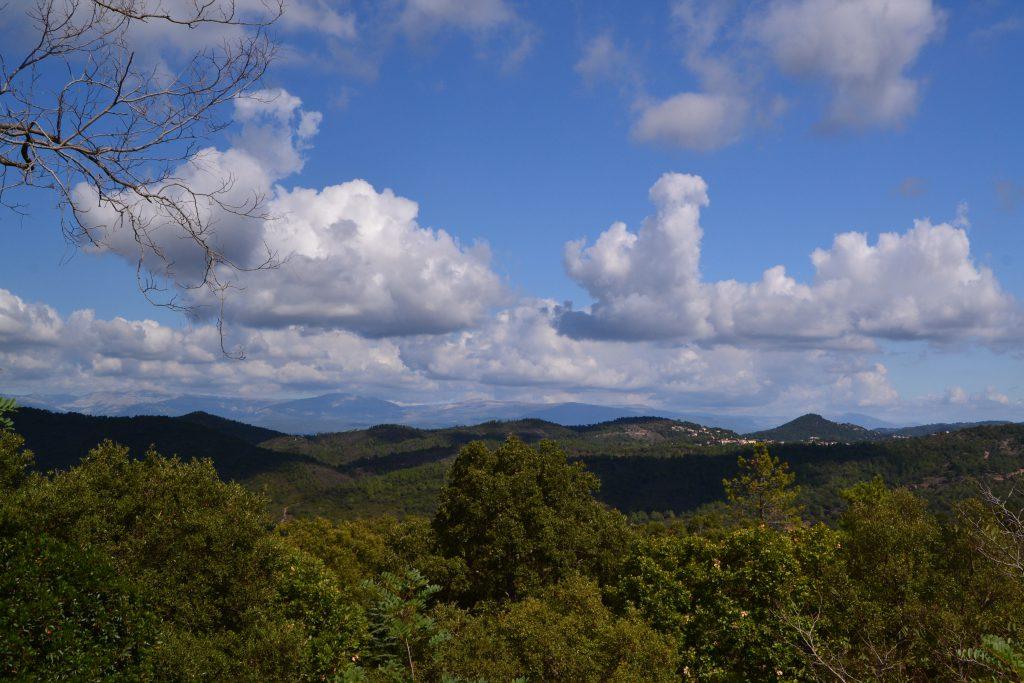Her ses Mercantour, der er en del af Préalpes. Billedet er taget fra Mont Vinaigre.