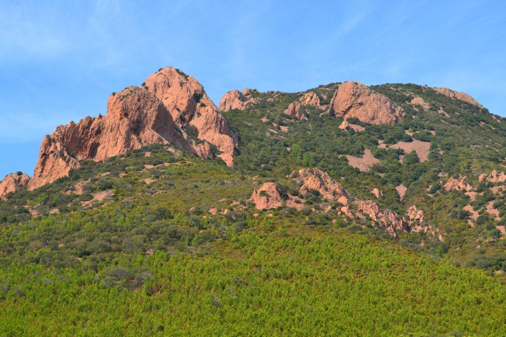 Et lille udsnit af de smukke røde Estérel bjerge