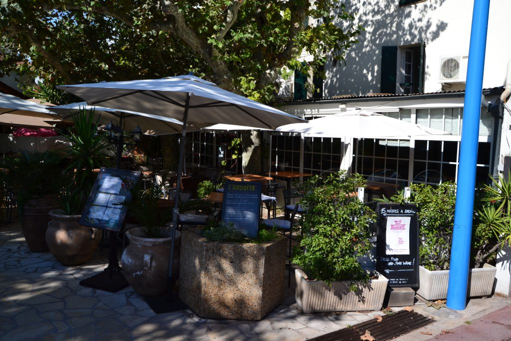 Restaurant Les Bartavelles, hvor vi fik en dejlig frokost