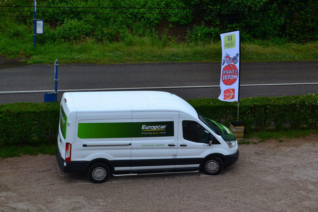 Her er så den lejede varevogn med vores happengut fra Aalborg
